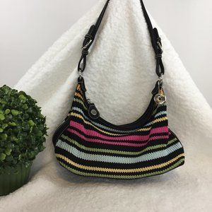 The SAK Black Crochet Multi Colored - Small